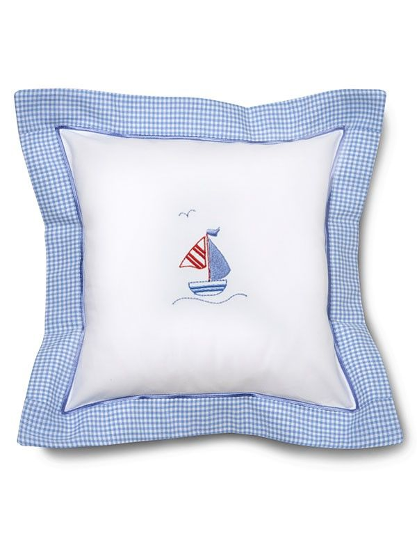 DG136-SASB Baby Pillow Cover - Sailboat & Seagull (Blue)