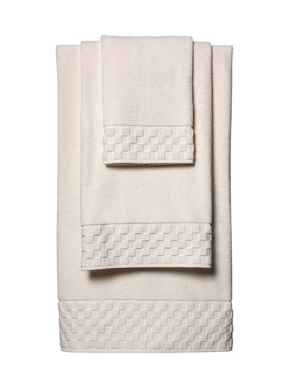 Bath Towel Set** - Ivory Turkish Cotton Terry
