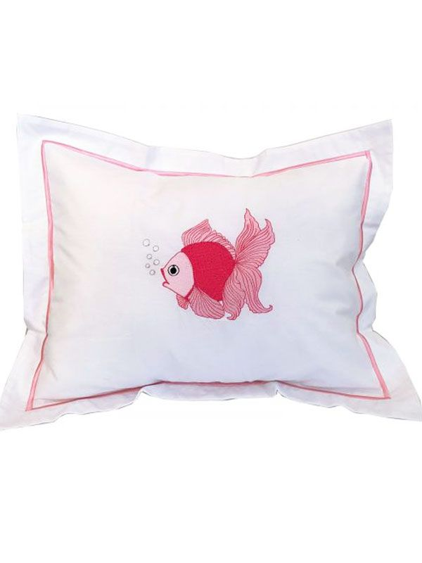 DG78-FTFPK Boudoir Pillow Cover - Fantail Fish (Pink)