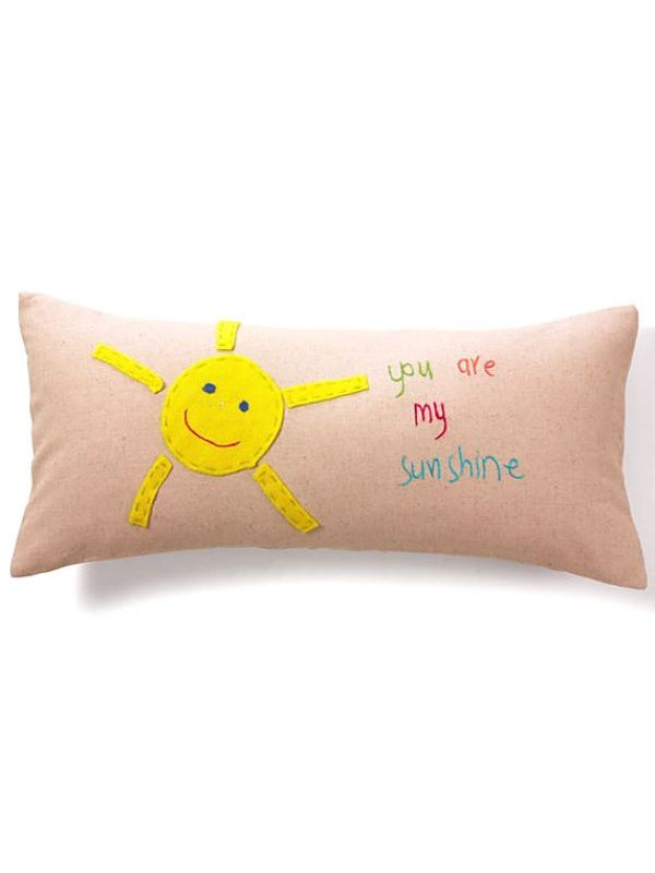 "LL665** Sunshine Pillow - ""you are my sunshine"""