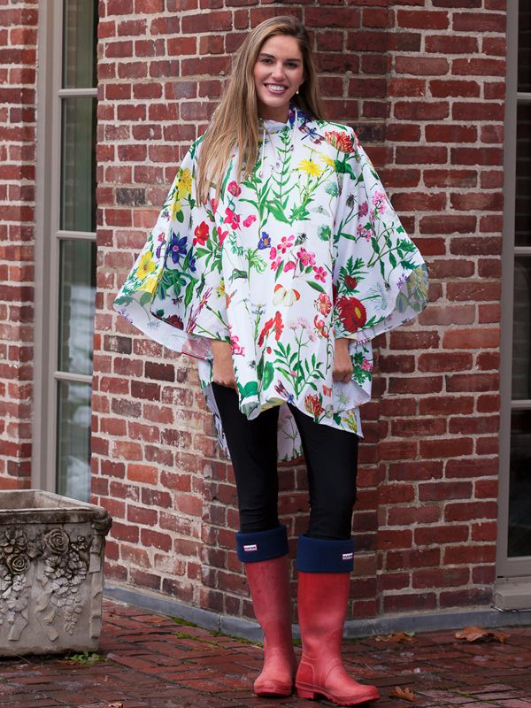 Poncho In A Bag, Botanical Design - RH126-BOT